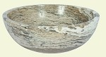 "Travertine Onyx Round 16"" Sink"
