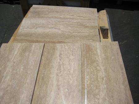 Rustico Vein Cut 12x24 Polished Amp Filled Travertine Tile