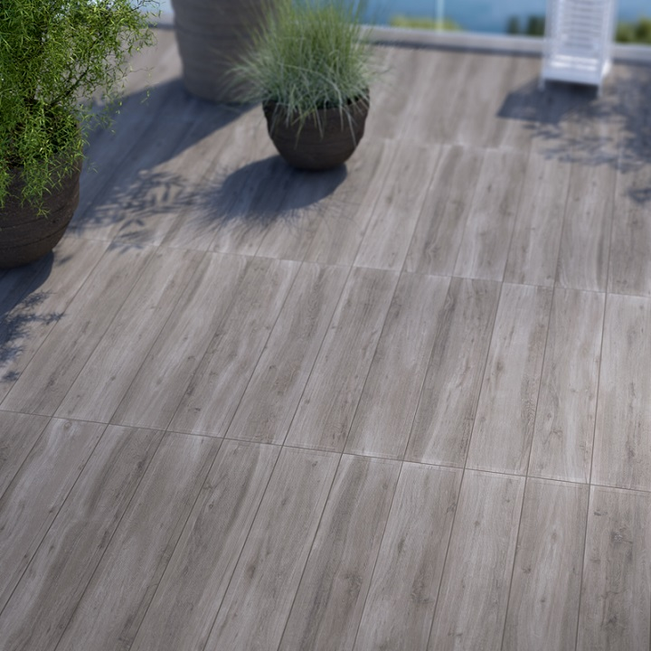 Modena Wood Design Collection | Grigio Porcelain Tile | 6.5x40
