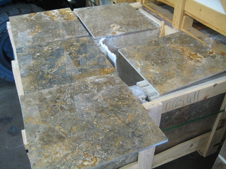 Golden Green Travertine | 18X18 | Filled | Polished