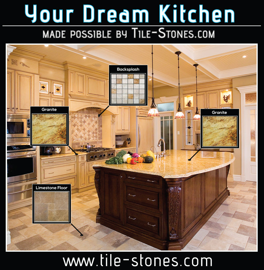 Tile-Stones Dream Kitchen