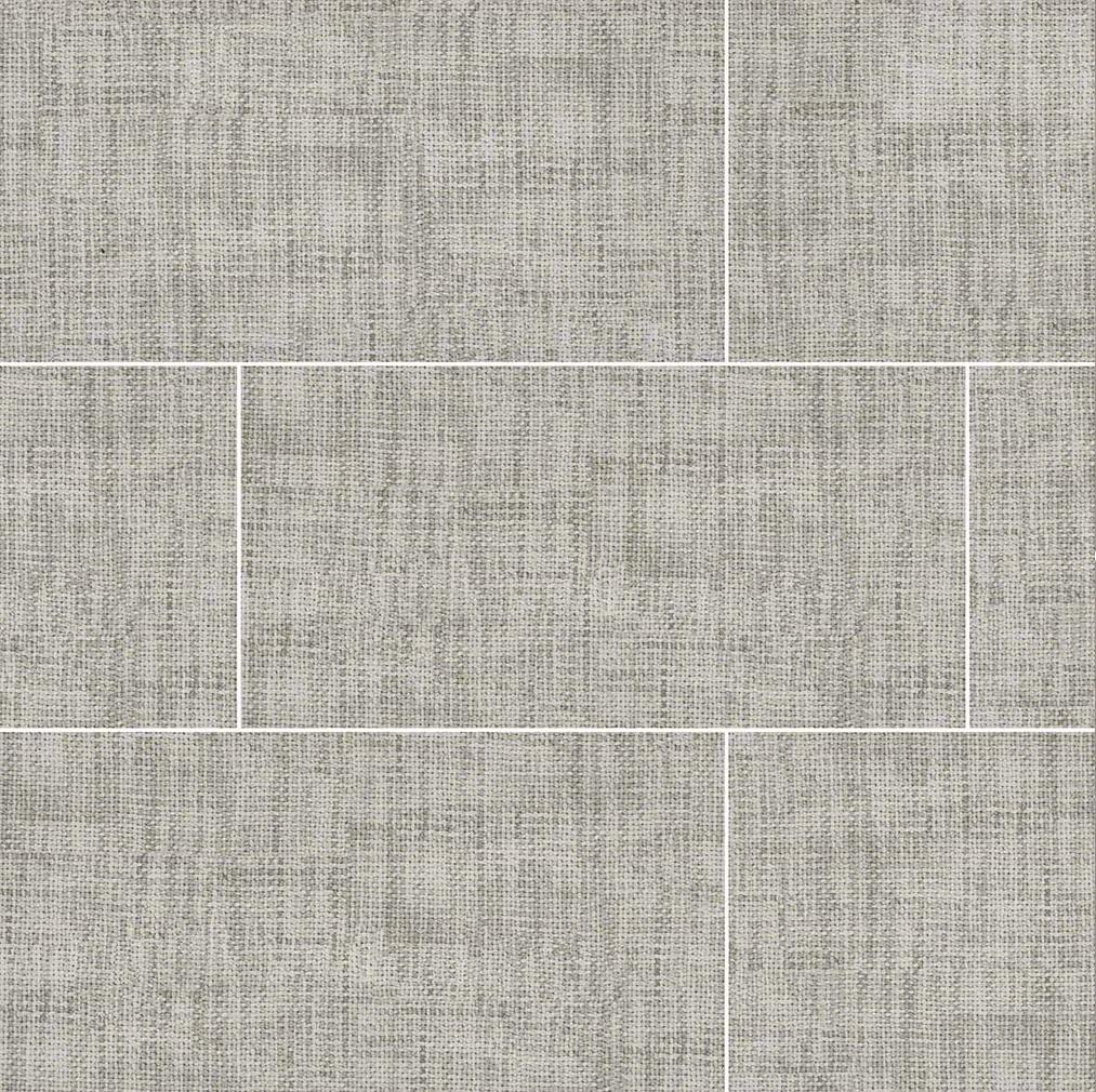 Tektile Crosshatch Gray 12x24