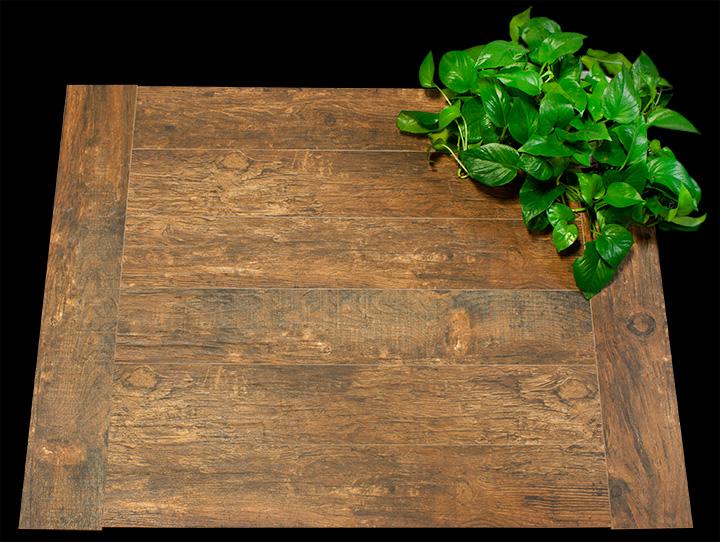 Wood Plank Porcelain 6x36 Redwood Mahogany Porcelain Tile