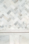 Arabescato Carrara Herringbone Backsplash