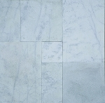 Bianco Venato Marble | Versailles Pattern | Chiseled Edge | Brushed