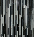 Black Blend Bamboo Glass Mosaic