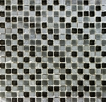 Glass & Stone Mosaic | Black Rain