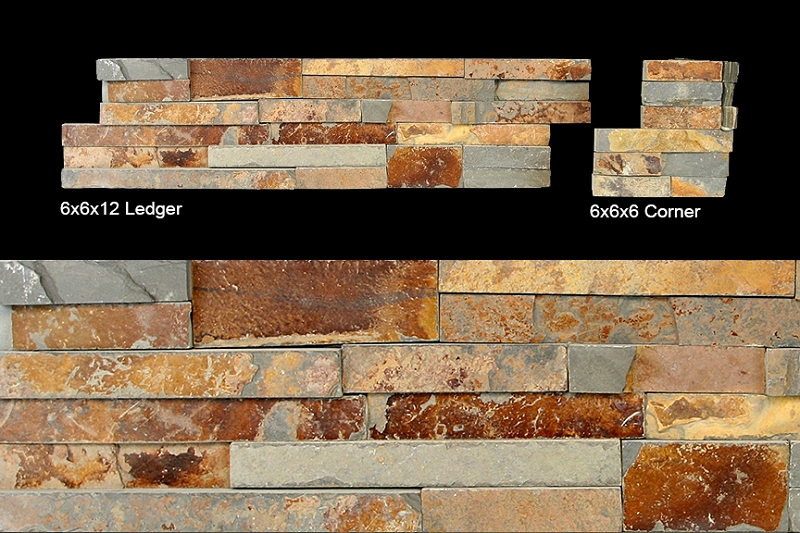 Stack Stone Ledger Panel Butterscotch 6x24
