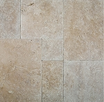 Cafe Light Travertine | Versailles Pattern | Tumbled