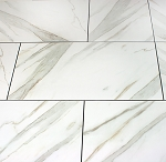 Calacatta Porcelain | 12x24 | 18x18 Polished