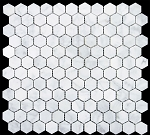 Marble Mosaic | Carrara White| 1x1 Hexagone | HONED