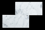 White Carrara 3x6 Polished Marble Mosaic