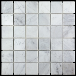 Carrara White Mosaic | Polished | 2x2