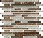 Celestine Blend Interlocking Mosaic Backsplash