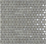 Confetti Penny Round Silver 12x12 Porcelain Mosaic | OUT OF STOCK