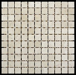 Crema Marfil Mosaic | 1in. x 1in. | Polished