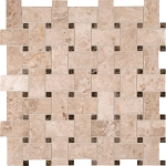 Crema Cappuccino Basketweave Backsplash