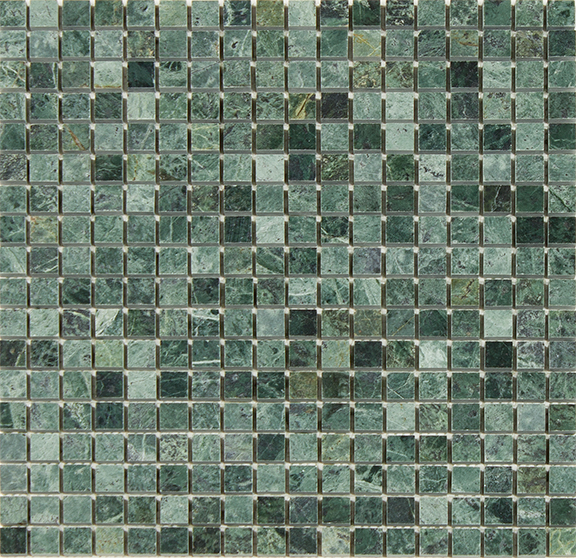 Empress Green Polished 5/8 x 5/8 mosaic tile | OUT OF STOCK