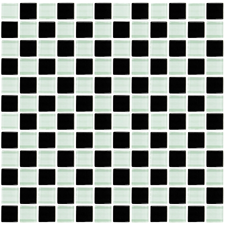 Glass Mosaic | Black and White Checkered | GA1002