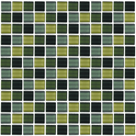 Glass Mosaic | Forest Green Mini | GA1006