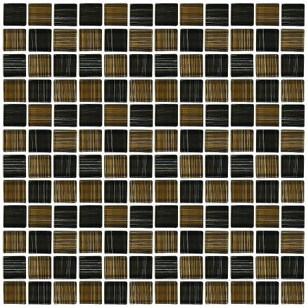 Glass Mosaic | Black and Brown | GA1014