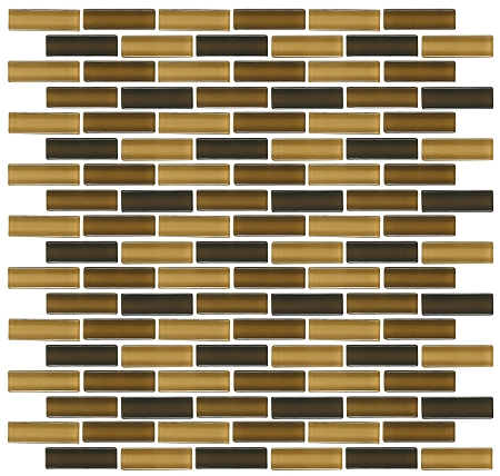 Glass Mosaic | Camel Brick | GA4002