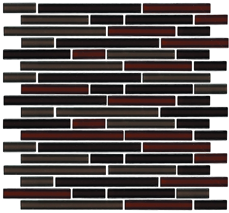 Glass Mosaic | Chocolate Strawberry Brick | GA4008