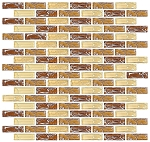 Glass Mosaic | Caramel Brick Crackled | GC4002