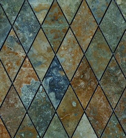 Golden Green Rhomboid Mosaic | 2x2 | Polished