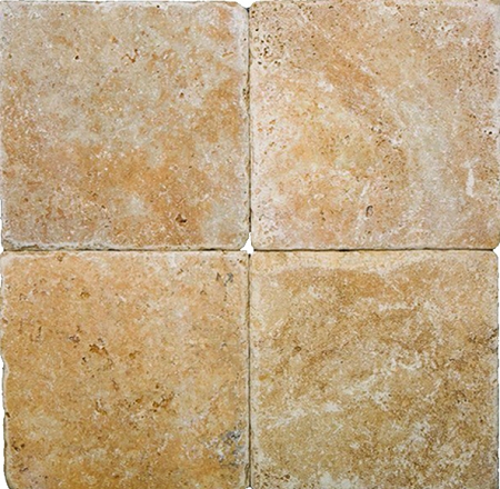 Golden Sienna 6x6 Tumbled Travertine Tile
