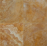 Golden Sienna Travertine | 24x24 | Filled | Honed