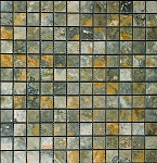 Gold Green Stone Mosaic| Polished | 1x1