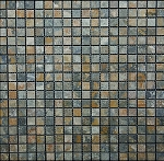 Golden Green Stone Mosaic | Tumbled | 5/8x5/8