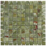 Green Onyx Mosaic | 1x1 | Polished