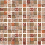 Glass & Stone Mosaic | Peach Floral | GS1004