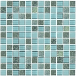 Glass & Stone Mosaic | Blue Grass | GS1006