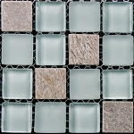 Glass & Stone Mosaic | Mint Sand | GS1009