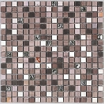 Glass & Stone Mosaic | Burnt Sienna | GS5007