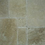 Hazelnut Travertine | Chiseled Edge | Unfilled | Versailles Pattern | Brushed
