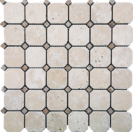 Hexagon Light Stone Mosaic