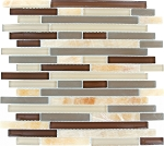 Glass & Stone Mosaic | Honey Caramel Onyx Bamboo