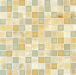 Honey Ivory Onyx Mosaic | 1x1 | Polished