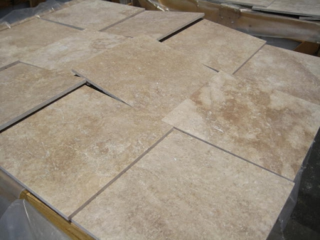 Walnut Travertine | Filled | 12x12