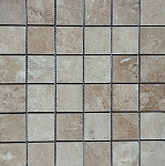 Ivoria Travertine Mosaic | 2x2 | Polished