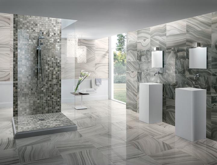 Polished Porcelain Tile Astra Turchese Onyx