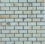Bianco Venato Oro Travertine Mosaic | 1x2 | Polished