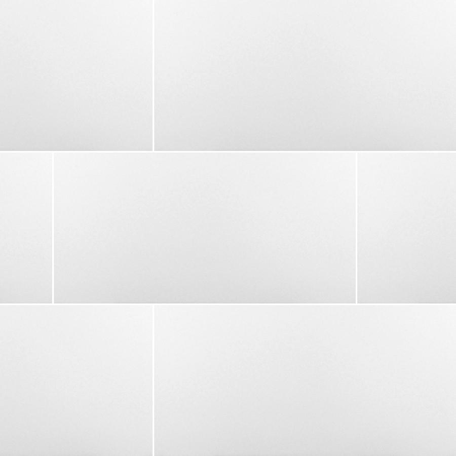 Matte White Domino 12x24 24x24 Tile