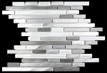 Glass & Stone Mosaic | Metal Water Fall