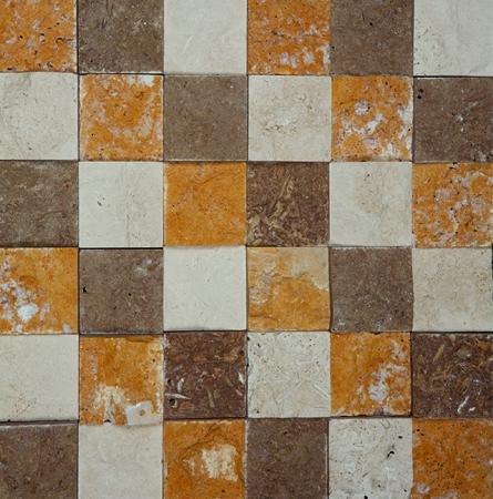Mix 3D Travertine Stone Mosaic | 2x2