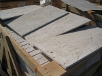 Ivoria Travertine | Vein Cut | Straight Edge | Unfilled | 12x24 | Brushed